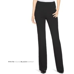 WHBM SIDE-BUTTON FLARE PANTS 00